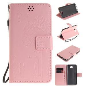 Dandelion PU kožené puzdro na Huawei Y5 II - růžové - 1