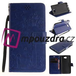 Dandelion PU kožené puzdro na Huawei Y5 II - modré - 1
