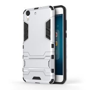 Outdoor odolný obal na mobil Huawei Y6 II a Honor 5A - stříbrný - 1