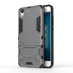 Outdoor odolný obal pre mobil Huawei Y6 II a Honor 5A - šedý - 1