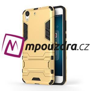 Outdoor odolný obal na mobil Huawei Y6 II a Honor 5A - zlatý - 1