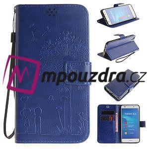 Dandelion PU kožené puzdro pre Huawei Y6 II a Honor 5A - modré - 1