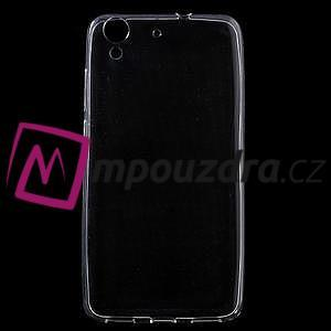 Ultratenký gélový obal pre mobil Huawei Y6 II a Honor 5A - Transparentný - 1