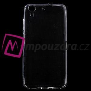Ultratenký gélový obal na mobil Huawei Y6 II a Honor 5A - transparentní - 1