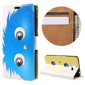 Emotive peňaženkové puzdro na Huawei Y6 II Compact - modrá príšera - 1