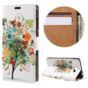 Emotive peňaženkové puzdro na Huawei Y6 II Compact - farebný strom - 1