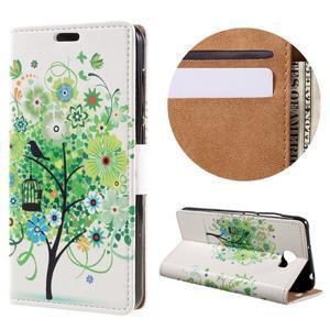 Emotive peňaženkové puzdro na Huawei Y6 II Compact - zelený strom - 1