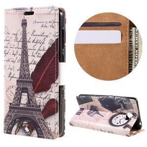 Emotive peňaženkové puzdro na Huawei Y6 II Compact - Eiffelova veža - 1