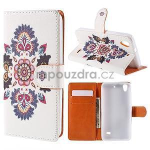 Peňaženkové puzdro na Huawei Ascend G620s - folk - 1