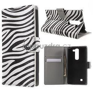 Pěněženkové puzdro na LG G4c H525n - zebra - 1