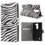 Pěněženkové puzdro na LG G4c H525n - zebra - 1/7