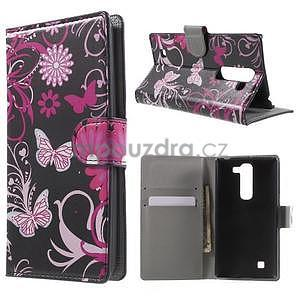 Peňaženkové puzdro pre LG G4c H525n - motýľe - 1