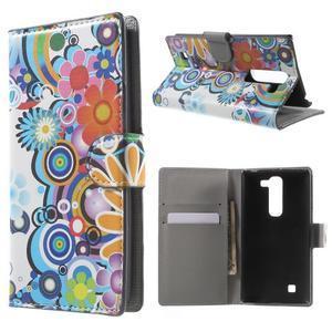 Peňaženkové puzdro pre LG G4c H525n - farebné kvetiny - 1