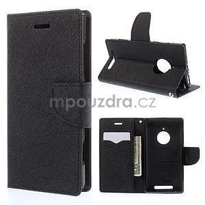 Kožené peňaženkové puzdro na Nokia Lumia 830 - čierné - 1