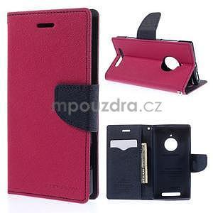 Kožené peňaženkové puzdro na Nokia Lumia 830 - rose - 1