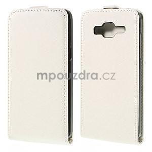Flipové pouzdro na Samsung Galaxy J5 - bílé - 1