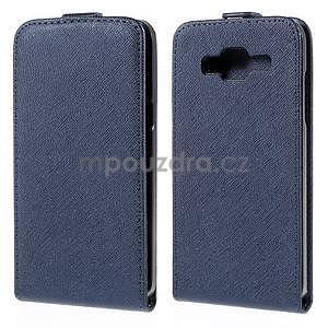 Flipové pouzdro na Samsung Galaxy J5 - tmavě modré - 1