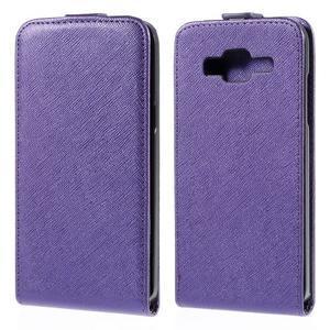 Flipové pouzdro na Samsung Galaxy J5 - fialové - 1