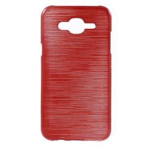 Brúsený gélový obal pre Samsung Galaxy J5 - červený - 1