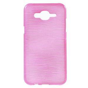 Broušený gelový obal na Samsung Galaxy J5 - rose - 1