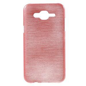 Brúsený gélový obal pre Samsung Galaxy J5 - ružový - 1