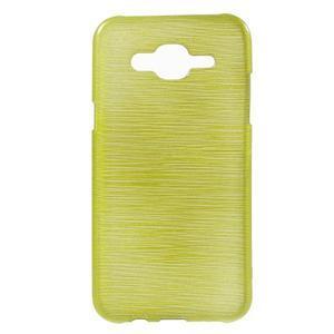 Brúsený gélový obal pre Samsung Galaxy J5 - zelenožltý - 1