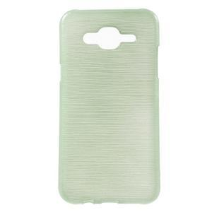 Brúsený gélový obal pre Samsung Galaxy J5 - azúrový - 1