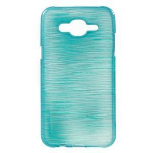 Broušený gelový obal na Samsung Galaxy J5 - tyrkysový - 1