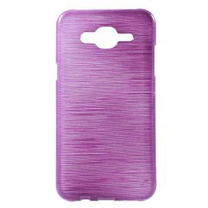 Broušený gelový obal na Samsung Galaxy J5 - fialový - 1