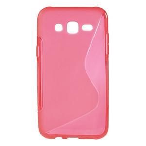 S-line gelový kryt na Samsung Galaxy J5 - červený - 1