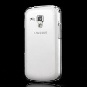 Transparentný plastový obal pre Samsung Galaxy S Duos, Trend Plus - 1