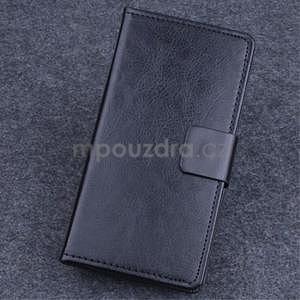 Koženkové puzdro pre mobil Lenovo A536 - čierne - 1