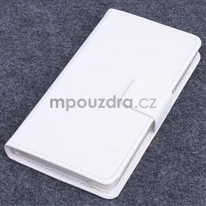 Koženkové puzdro pre mobil Lenovo A536 - biele - 1