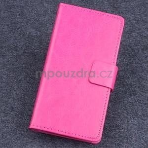 Koženkové puzdro pre mobil Lenovo A536 - rose - 1