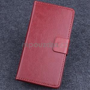 Koženkové puzdro pre mobil Lenovo A536 - hnedé - 1