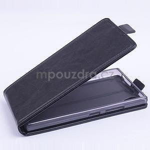 Kožené flipové puzdro pre Lenovo P70 - čierné - 1