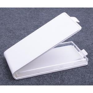 Kožené flipové puzdro na Lenovo P70 - biele - 1