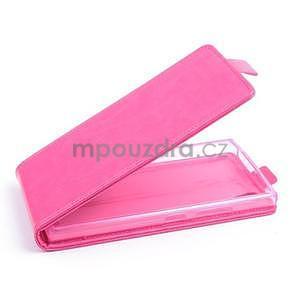 Kožené flipové puzdro pre Lenovo P70 - ružové - 1