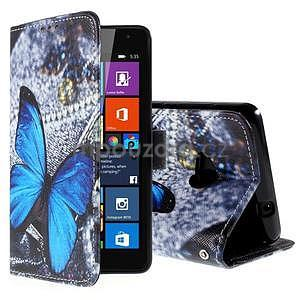 Safety puzdro pre mobil Microsoft Lumia 535 - modrý motýľ - 1