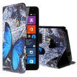 Safety puzdro pre mobil Microsoft Lumia 535 - modrý motýľ - 1/5