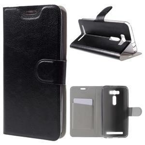 Horse puzdro pre mobil Asus Zenfone 2 Laser - čierne - 1