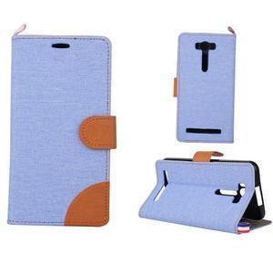 Jeans puzdro na mobil Asus Zenfone 2 Laser - svetlomodré - 1