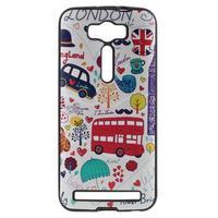 Gélový obal s koženkovým chrbtom na Asus Zenfone 2 Laser - UK - 1/5