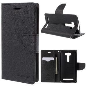 Diary štýlové puzdro na Asus Zenfone 2 Laser - čierne - 1