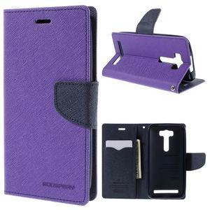 Diary štýlové puzdro na Asus Zenfone 2 Laser - fialové - 1