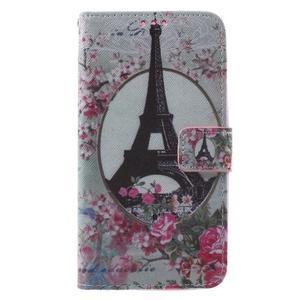 Koženkové puzdro na Asus Zenfone 2 Laser - Eiffelova veža - 1