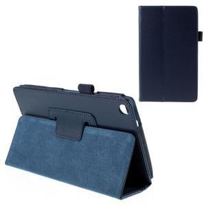 Koženkové puzdro pre tablet Asus ZenPad 7.0 Z370CG - tmavomodré - 1