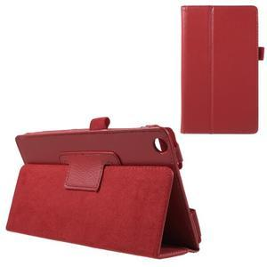 Safety koženkové puzdro na Asus ZenPad C 7.0 Z170MG - červené - 1