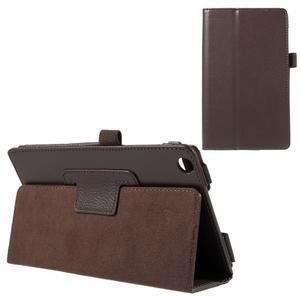 Safety koženkové puzdro na Asus ZenPad C 7.0 Z170MG - hnedé - 1