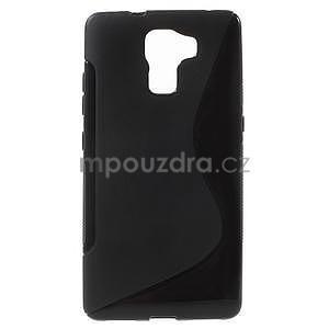 Čierny gélový kryt S-line na Huawei Honor 7 - 1